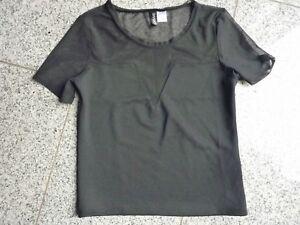 Shirt-mit-transparentem-Einsatz-von-H-amp-M-schwarz-Gr-S