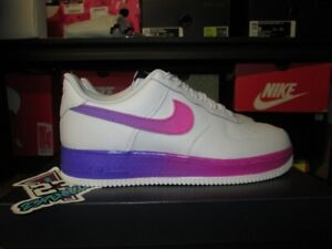 nike air force 1 grey and purple