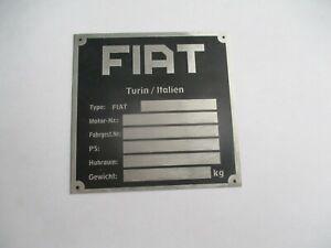 Nameplate Fiat Turin