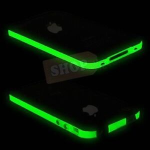 Black-Green-Glow-in-the-Dark-Bumper-Case-Cover-Metal-Buttons-For-iPhone-4-4S-LCD