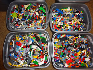 2-pound-Lot-Bulk-100-Legos-Clean-Bricks-Parts-pieces-Star-Wars-city-mix-sets