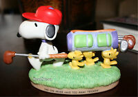 2000 on The Course Snoopy Woodstock Golf Peanuts Gallery Hallmark Figurine