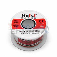 0.6mm 50G 65ft 60/40 Rosin Core Flux 1.2% Tin Lead Roll Soldering Solder Wire