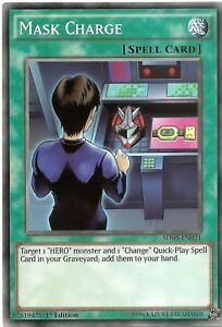 Mask-Charge-SDHS-EN021-Common-Yu-Gi-Oh-Card-1st-Edition-New