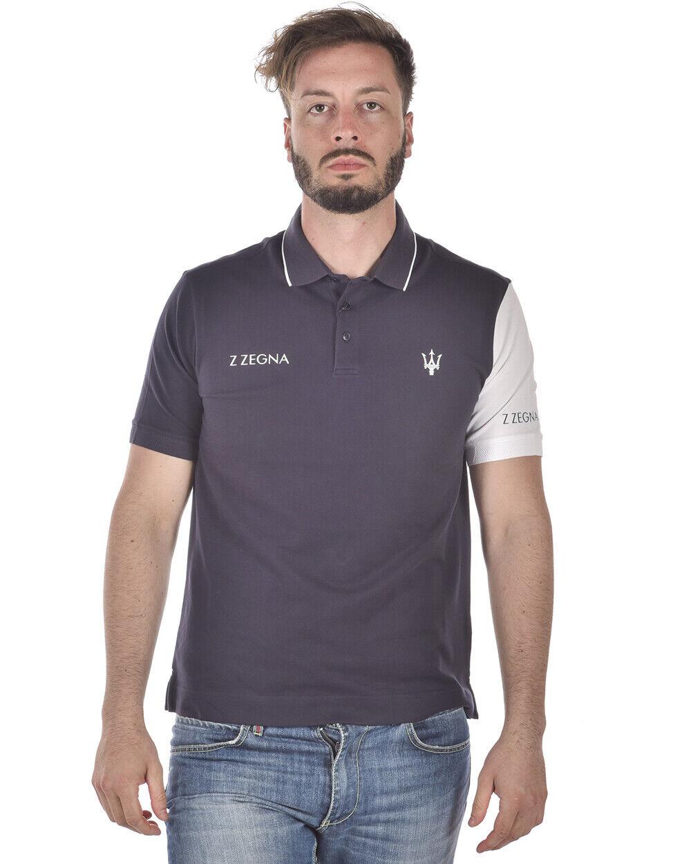 Zegna Polo Shirt Cotton Man bluee VP370ZZB600 6Y1 Sz.L MAKE OFFER
