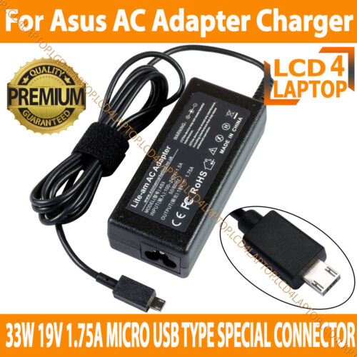 33W Asus 19V 1.75A MicroUSB Type Special Connector Compatible AC Adapter Charger