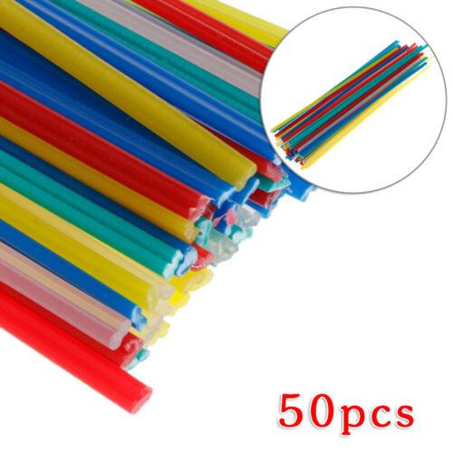 50pcs Set Electrodes Plastic Welding Rod 200x5x2mm Abrasion Resistance Tool Kit