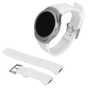 Luxus-Silikon-Uhrenarmband-Buegel-fuer-Samsung-Galaxy-S2-Gear-SM-R720-Weis-T4J5