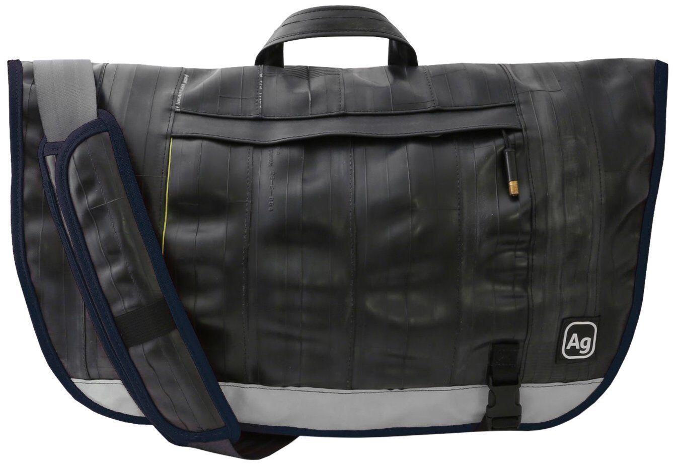 Alchemy Goods Dravus Messenger Bag, 25L, Made From Upcycled Inner Tubes, Navy