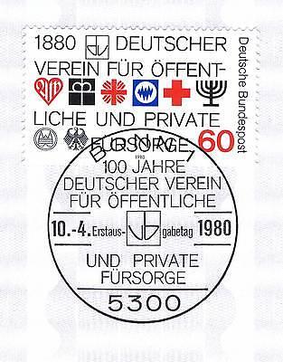 Brd 1980: Fürsorgeverein 100 Jahre! Nr 1044 Mit Dem Bonner Sonderstempel! 1a 154 Um Der Bequemlichkeit Des Volkes Zu Entsprechen