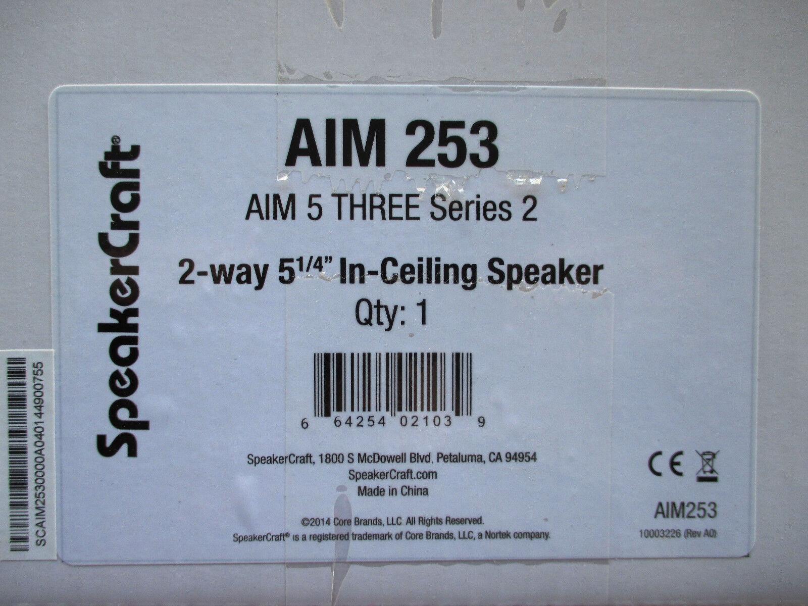 SpeakerCraft AIM 5 THREE Series 2 In-Ceiling Speaker AIM 253