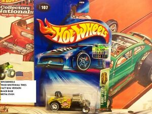 HOT WHEELS 2004 TREASURE HUNT #107 -6 ALTERED STATE THIK WW TIRES FACT SEAL
