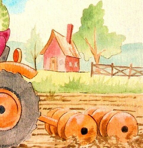 FROG Kubota Tractor by pollard  13x16 signed art print farming cartoon