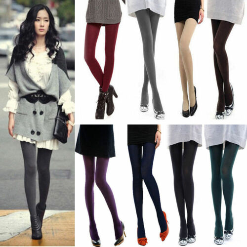 14 Colors Women/'s Ladies Thick Footed Tights Winter Warm Opaque Stocking Socks