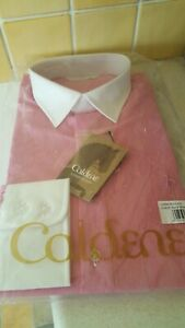 """New Caldene 14"""" Red And White Stripe Long Sleeve Show Shirt Now Reduced"""