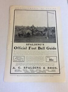 1903 MAGAZINE AD #A3-124- Spalding's Official Football Guide
