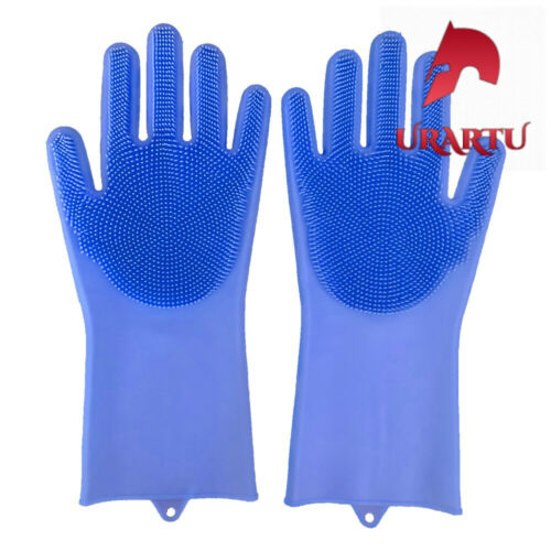 2pcs Silicone Cleaning Gloves Multifunction Magic Silicone Dish Washing Gloves F