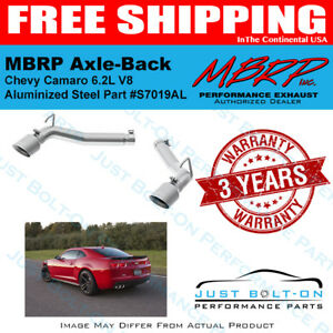 PLM Axle Back Muffler Delete w/ TIP for Chevy Camaro 2010-2015 Stainless V6 V8 Motors Auto Parts & Accessories