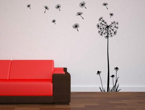 Huge Dandelion Flower Vinyl Wall Stickers Decal Stylish Removable Art UK 120cm