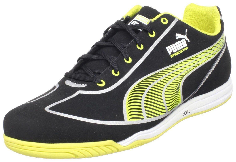 Puma / Faas Speed Star Casual / Puma formación zapatos de fútbol nuevo negro / Lima 8e0fb5