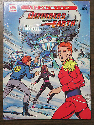 Defenders of the Earth: The Deep Freeze Golden Big Coloring Book Phantom  Flash G | eBay