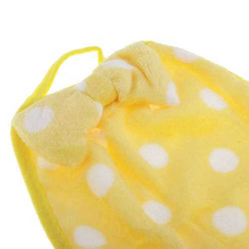 Bowknot Hanging Hand Towel Cleaning Bibs Bathroom Sheet Travel Yellow Dot