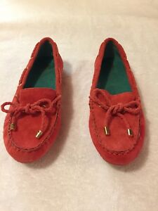 White-Mountain-Womens-Surf-Coral-Suede-MoccasIn-Shoes-Size-6-5M