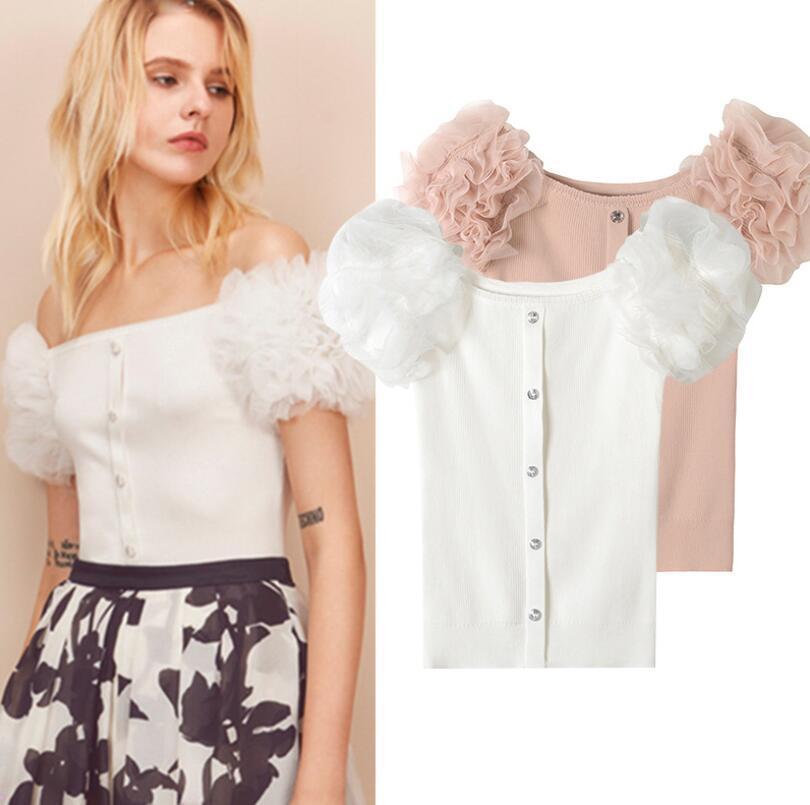 damen Designer Inspirot   Drop Shoulder Knitwear Top