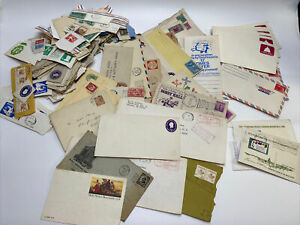 Vintage Metered Postage And Envelope Lot - See Pictures - USA & Other Countries
