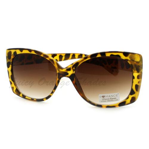Heart Tip Fashion Sunglasses Oversized Square Designer Frame