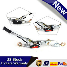 5 Ton Capacity Hand Puller Come Along Cable Hoist 3 Hooks Come Along Dual Gears