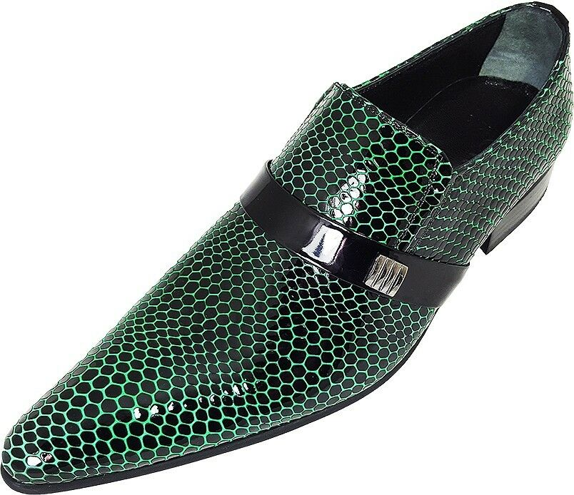 Original chelsy-diseñador italiano fiesta Slipper patrones de malla negro verde