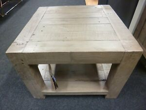 Details About New Solid Reclaimed Wood Compact Two Tier Square Coffee Table Furniture Store