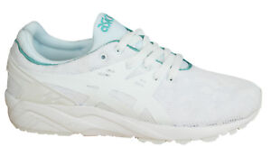big sale 9b077 d21e5 Details about Asics Gel-Kayano Trainers Evo Womens Shoes Lace Up Textile  White H7Q6N 0101 M4