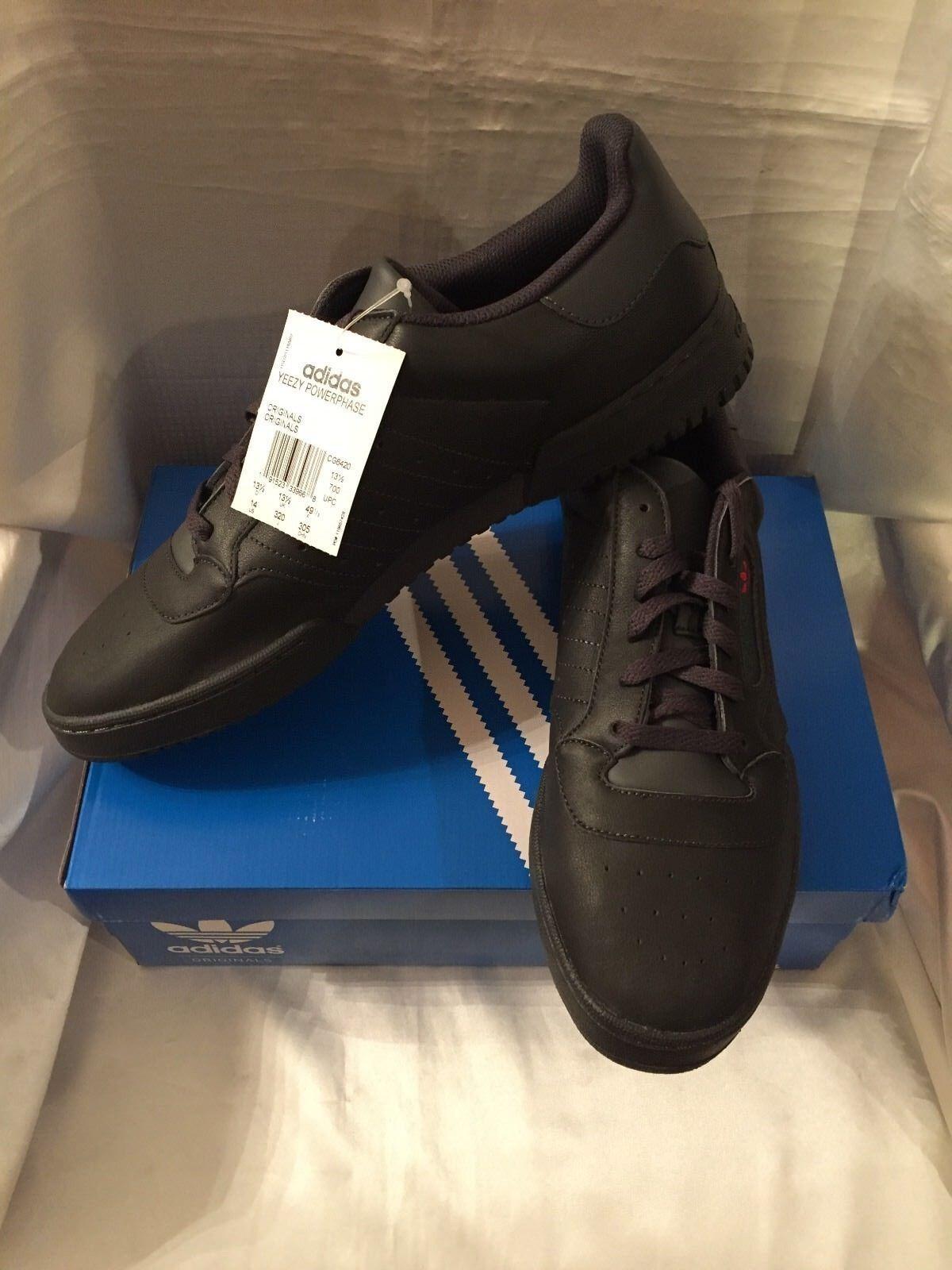 Adidas Adidas Adidas Yeezy Powerphase Calabasas Core Black CG6420 - Men's Size 14 NIB 3c401d
