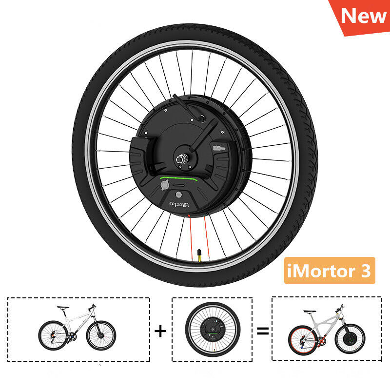 IMortor 3.0 24 26 27.5 29 700C Electric davanti E Bike rueda Kits 36V 350W sz
