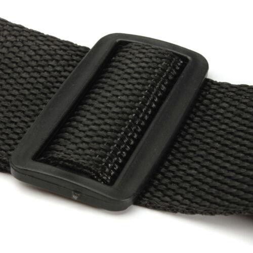 Schwarzer verstellbarer Gitarrengurt mit Lederenden für E-Akustik-Bäss /_WP