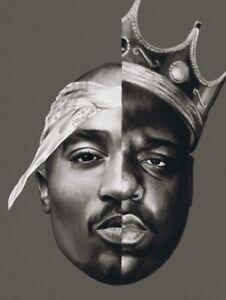 2pac-Tupac-Biggie-Smalls-BIG-Hip-hop-legend-Musique-Rap-Poster-Toile-Photos