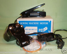 HOME SEWING MACHINE MOTOR AND PEDAL FOR SINGER HA1 66 99K  15 CLASS 110VOLTS