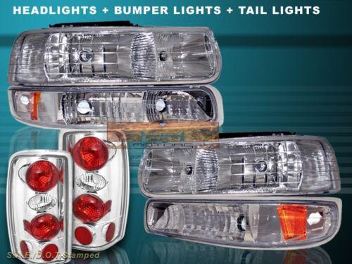 CLEAR TAIL LIGHTS BUMPER LIGHTS 2000-2006 CHEVY TAHOE SUBURBAN HEADLIGHTS