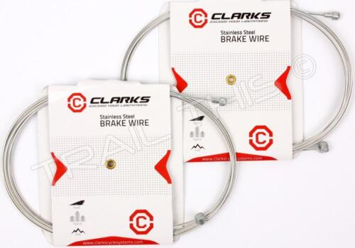 2-Pack Clarks Universal Stainless Steel Bike Brake Cables 2000 x 1.5mm Road//MTB