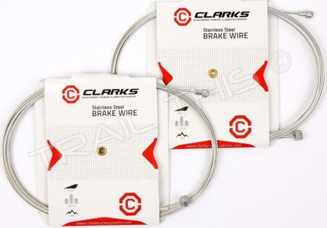 Clarks Universal Stainless Steel Bike Brake Cables 2000 x 1.5mm Road//MTB