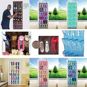 24-Pockets-Space-Save-Hanging-Bag-Shoes-DIY-Rack-Hanger-Pocket-Storage-Tidy