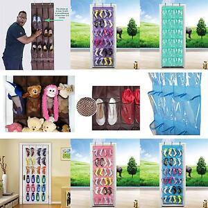 24-Pockets-Space-Save-Hanging-Bag-Shoes-DIY-Rack-Hanger-Pocket-Storage-Tidy
