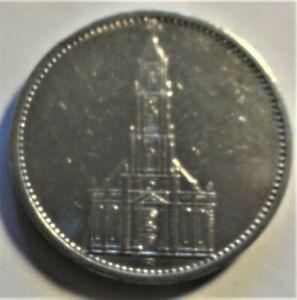 5,- Reichsmark 1934 A Silber Garnisonkirche ohne Datum Adler vz/ xf & Kapsel