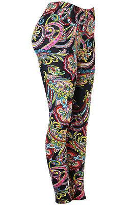 Paisley Gangster Soft Leggings Size 10 UK red black white bandana stretchy yoga