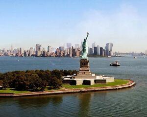 9/11 GROUND ZERO STATUE OF LIBERTY NEW YORK 8x10 SILVER HALIDE PHOTO PRINT