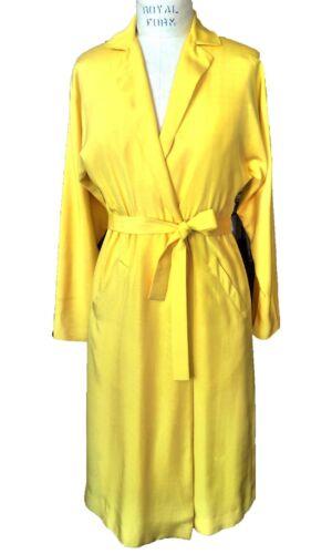 Vintage 1970s Halston Yellow Silk Wrap Dress - Min