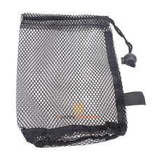 Nylon Mesh Nets Bag Pouch Golf Tennis 15 Balls Carrying Holder Storage Black
