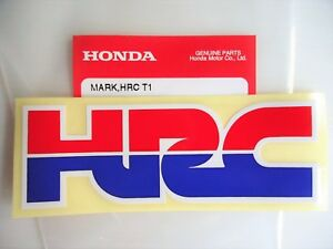 Genuine Hrc Honda Racing Corporation Decal Sticker Badge X 1 Uk Stock Ebay